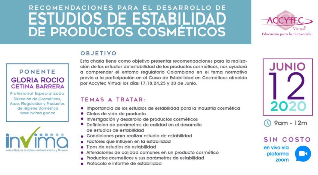 estabilidad cosmeticos ingredientes accytec invima nativus